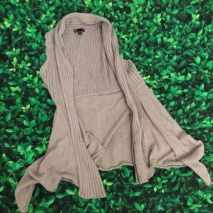 Gap sleeveless cardigan | small | gray | knit
